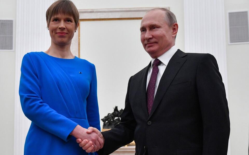 Керсти Кальюлайд и Владимир Путин на встрече в Москве 18 апреля 2019 года.