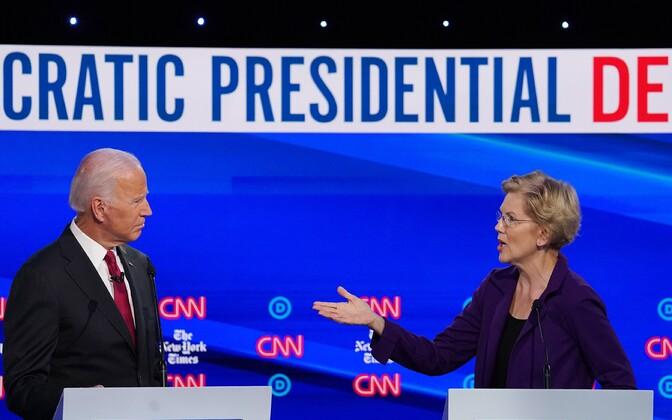 Joe Biden ja Elizabeth Warren demokraatide presidendikandidaadi valimiste debatis.