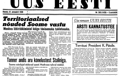 Uus Eesti 27.10.1939.