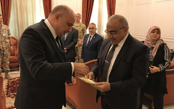 Kaitseminister Jüri Luik kohtus Iraagi peaministri Adil Abdul-Mahdi al-Muntafikiga.