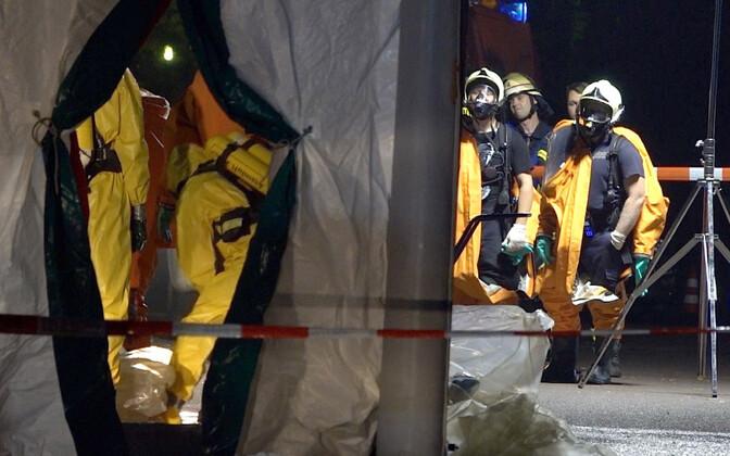 Расследовать обстоятельства чрезвычайной ситуации прибыла команда из 120 пожарных.