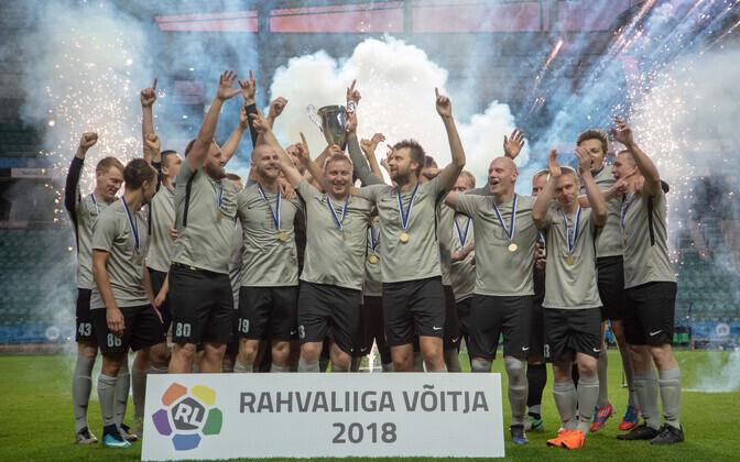 Pärnu Sadama meeskond eelmise aasta finaalis