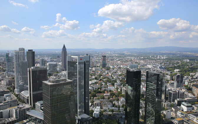 Vaade Saksamaa finantskeskusele Frankfurdile.