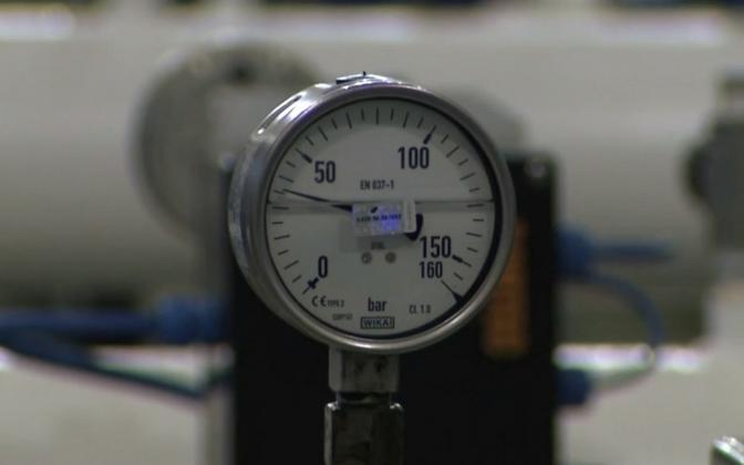 Gas meter.