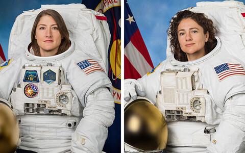 Американские астронавты Кристина Кук и Джессика Меир.