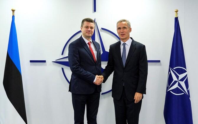 Foreign Minister Urmas Reinsalu met NATO Secretary General Jens Stoltenberg.