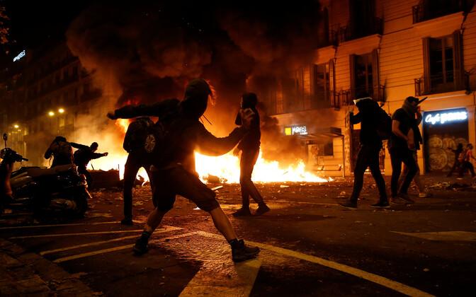 Protest Barcelonas.
