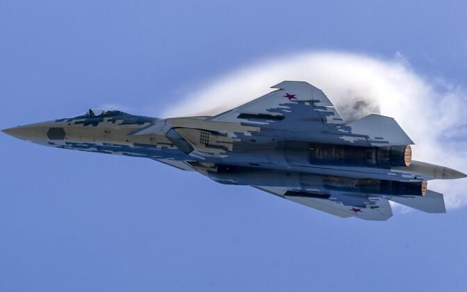Vene hävituslennuk Su-57.