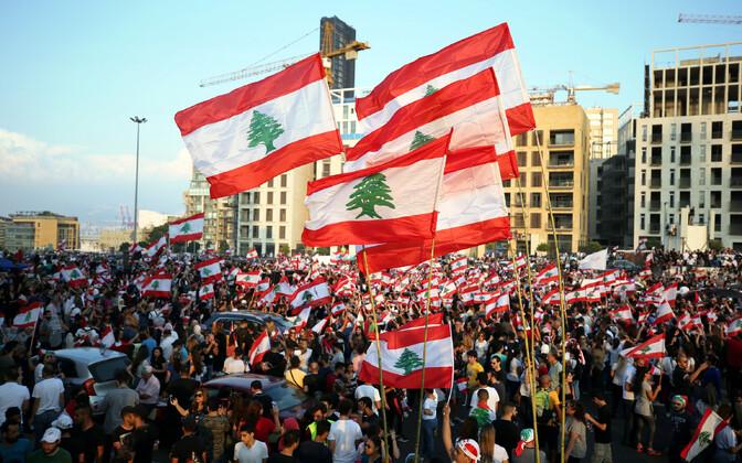 Meeleavaldus Beirutis.