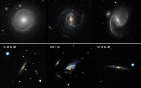 Astronoomid vaatlesid mitmeid suuri spiraalgalaktikaid.
