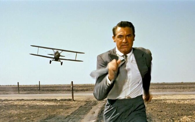 Cary Grant in an iconic scene from