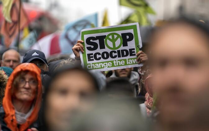 Liikumise Extinction Rebellion (tõlkes Vastuhakk Väljasuremisele) meeleavaldus Londonis oktoobris.