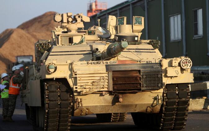 USA tank M1A2 Abrams Riias.