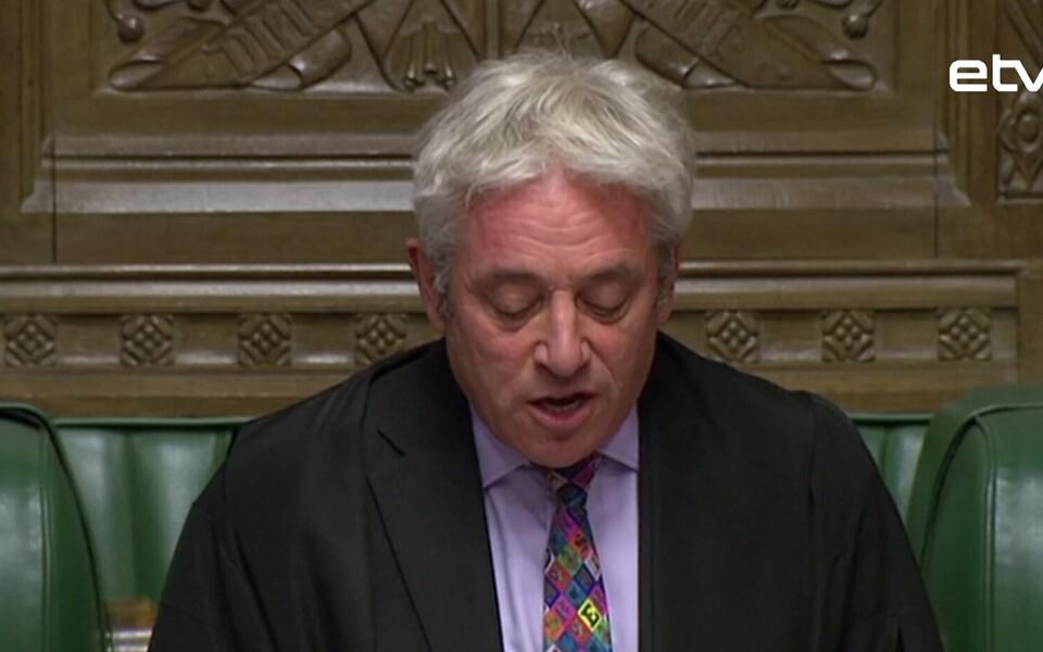 Спикер Палаты общин Джон Беркоу отказался выносить на голосование вопрос о соглашении по «Брекситу».