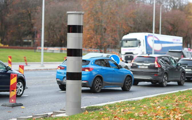 Speed camera near the Russalka statue on the side of Reidi tee