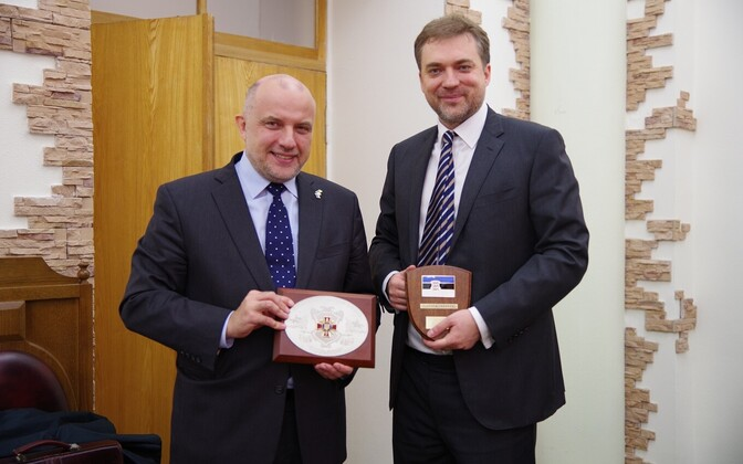 Minister of Defense Jüri Luik visited Ukraine.