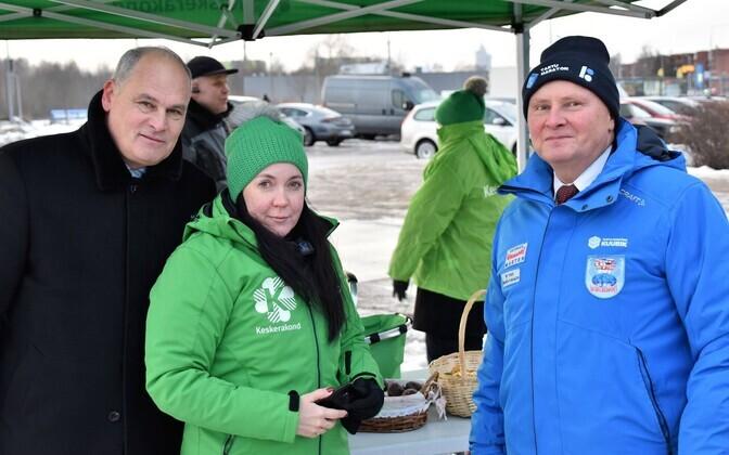 RK valimiskampaania ajal mahtusid Jaan Toots, Monica Rand ja Madis Lepajõe kenasti ühele pildile.