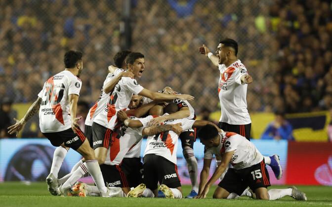 River Plate tähistamas oma finaali jõudmist