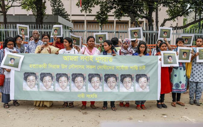ВБангладеш казнят покрайней мере 16 человек  засожжение девушки