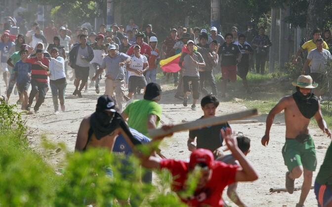 Kokkupõrked Boliivias Santa Cruzi lähedal.
