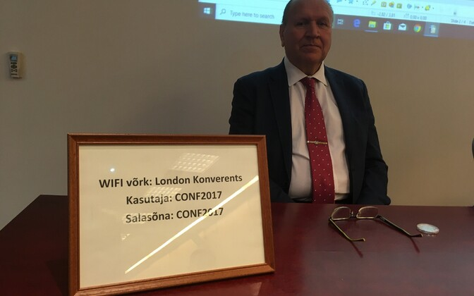 Mart Helme at EKRE's council meeting in Tartu on Saturday.
