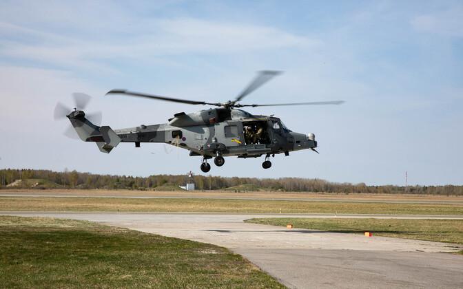 Ühendkuningriigi maaväe helikopter AW159 Wildcat Eestis.