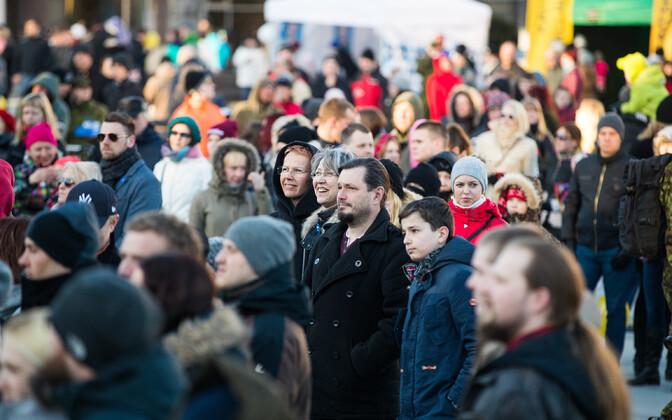 В Эстонии продолжаются споры о том, какой метод использовать при проведении переписи населения в 2021 году. Иллюстративная фотография.