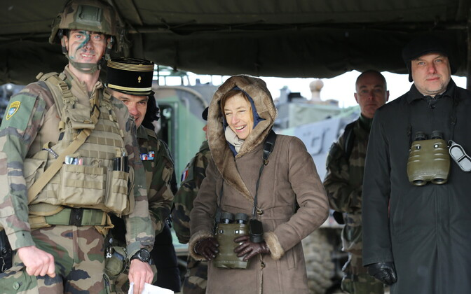French Minister of the Armed Forces Florence Parly and Minister of Defence Jüri Luik (Isamaa) visiting French troops serving in NATO Battlegroup Estonia at Tapa Army Base.