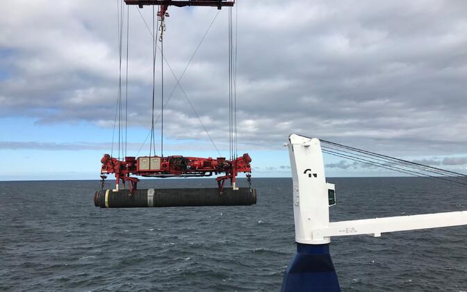 Строительство газопровода Nord Stream 2 в Балтийском море.