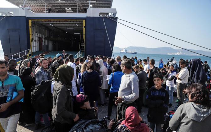Kreekasse saabunud pagulased.