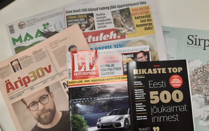 Selection of Estonian newspapers and periodicals (picture is illustrative).
