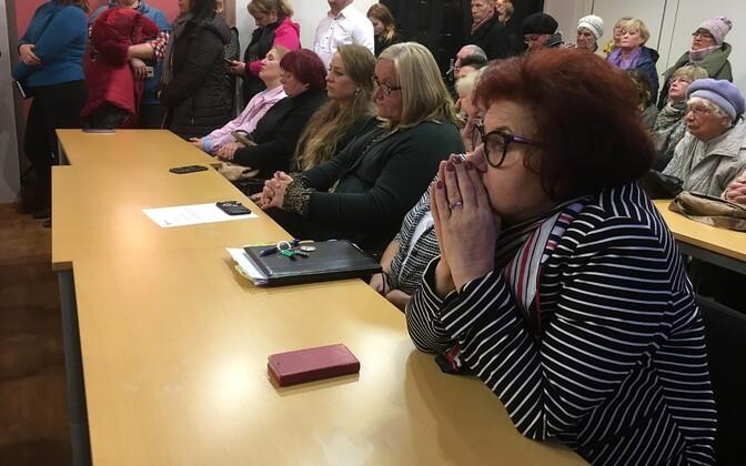 Заседание горсобрания Кохтла-Ярве.