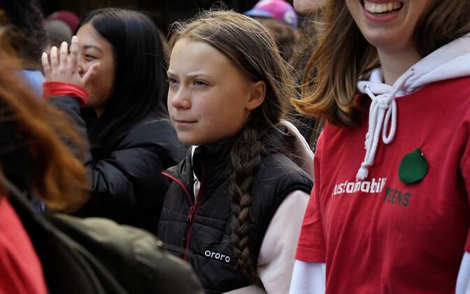 Greta Thunberg Vancouveris kliimastreigil.
