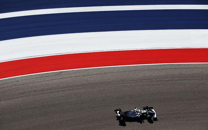Lewis Hamilton (Mercedes) USA GP vabatreeningul