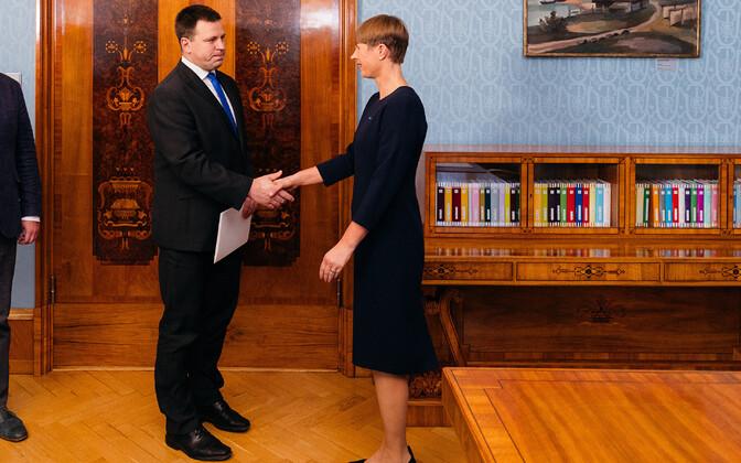 Prime Minister Jüri Ratas and President Kersti Kaljulaid.
