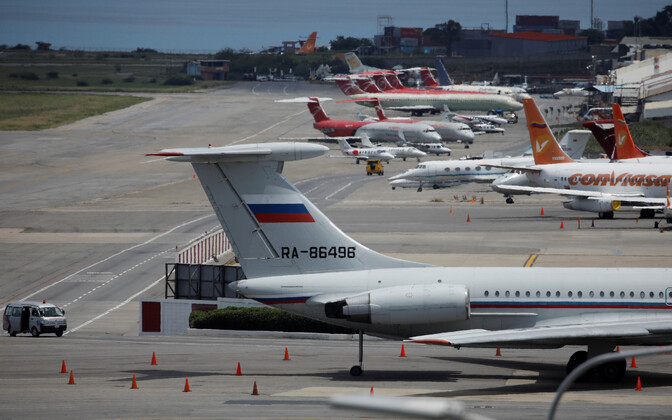 Vene transpordilennuk Caracase lennuväljal 2019. aasta septembris.