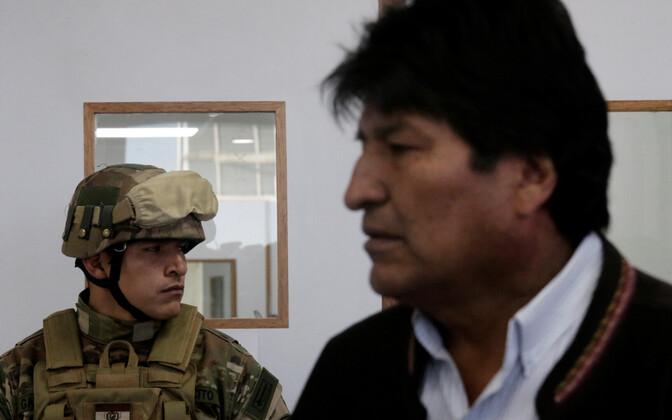 Boliivia sõdur ja president Evo Morales.
