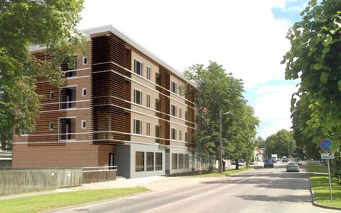 Pärnu mnt 328a ehitatava hoone välisilme.