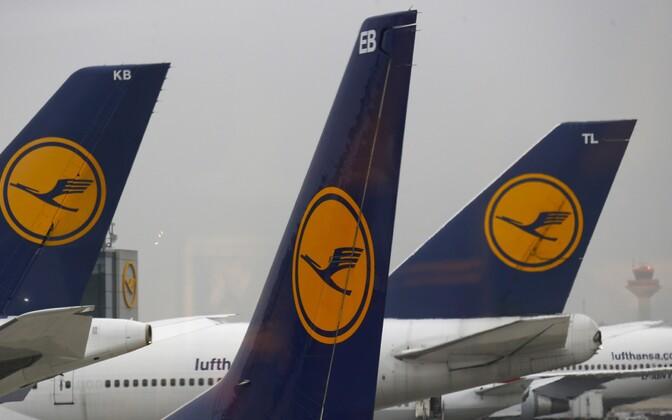 Самолеты Lufthansa.
