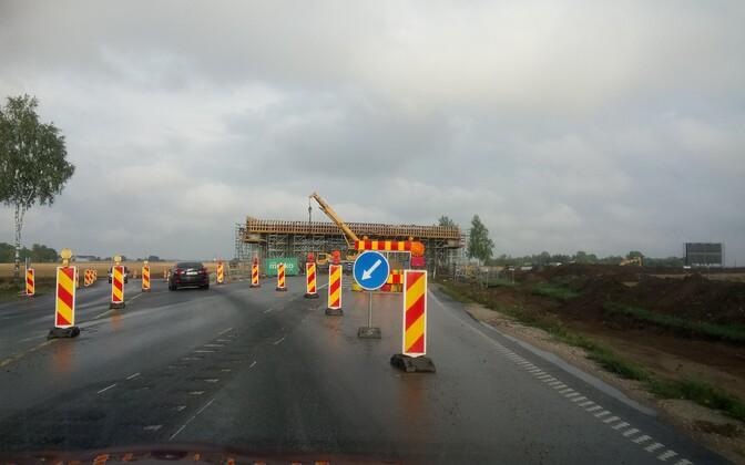 Tee-ehitus Tallinn-Narva maanteel novembri alguses.