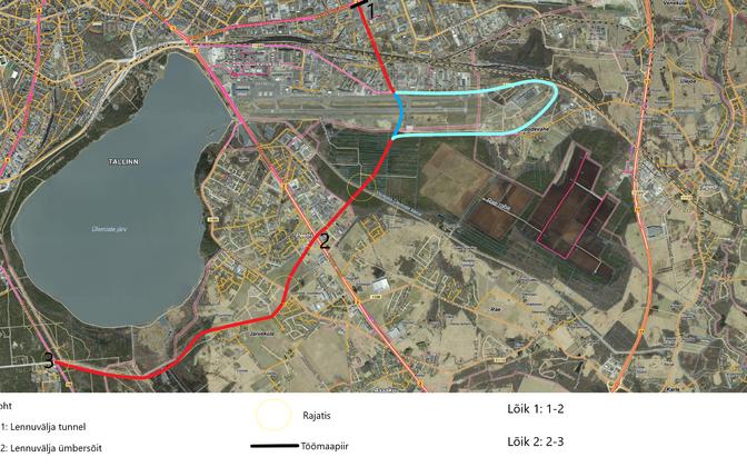 Предварительная схема Таллиннской окружной дороги.