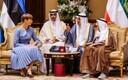 President Kersti Kaljulaid with Emir of Kuwait Sabah Al-Ahmad Al-Jaber Al-Sabah on Tuesday. Nov. 5, 2019.