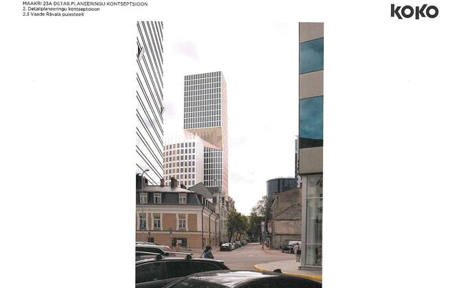 Концепция детальной планировки Маакри, 23а, вид с бульвара Рявала.