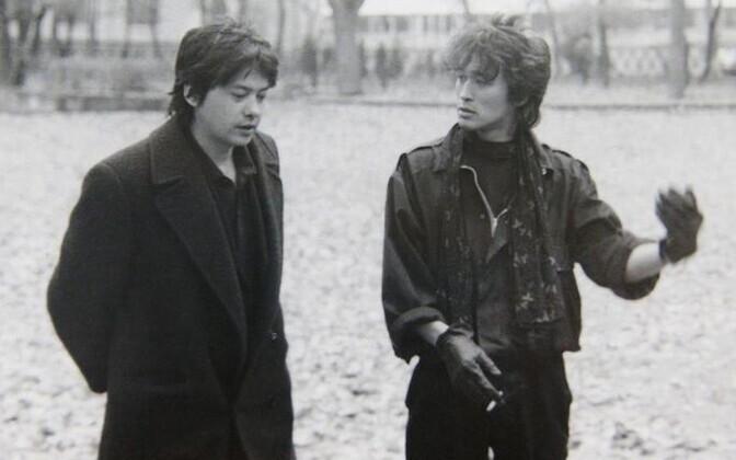 Рашид Нугманов и Виктор Цой во время съемок фильма