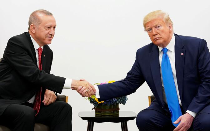 Recep Tayyip Erdogan ja Donald Trump tänavu suvel G20 kohtumisel.