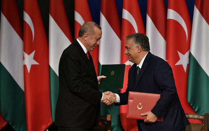 Recep Tayyip Erdogan ja Viktor Orban.