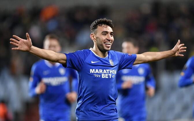 Munir El Haddadi kübaratrikk viis Sevilla Euroopa liiga play-offi'