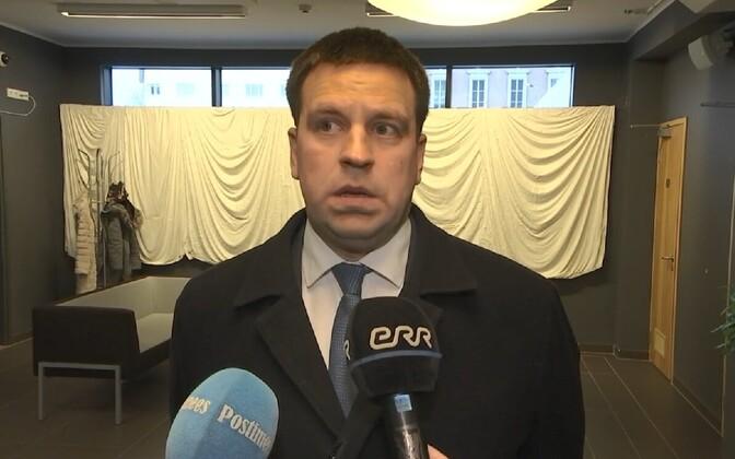 Prime Minister Jüri Ratas speaking to ERR on Friday.