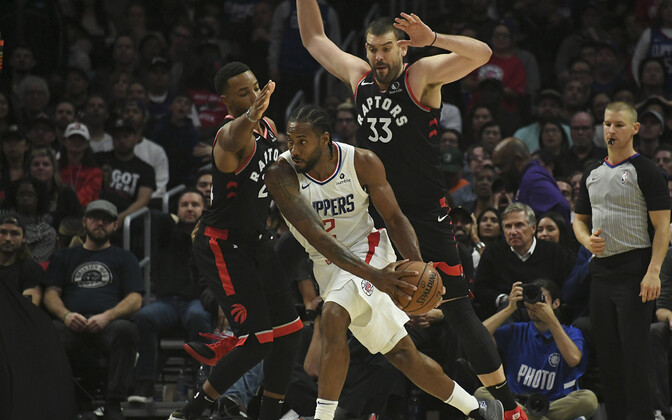 Kawhi Leonard mängus Toronto Raptorsi vastu