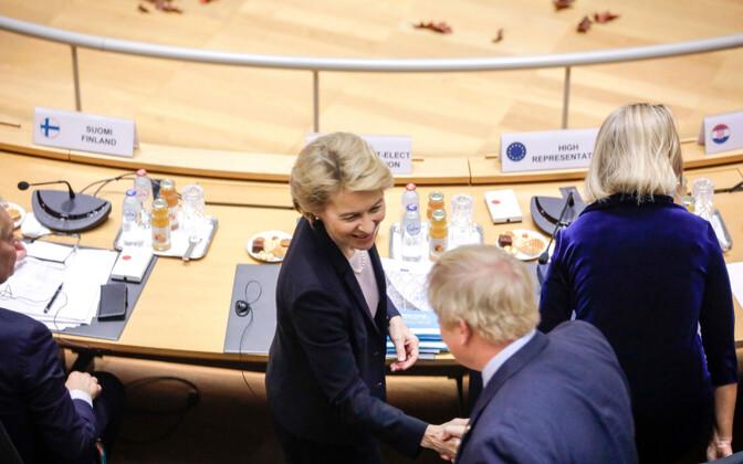 Ursula von der Leyen ja Boris Johnson 17. oktoobril Brüsselis.